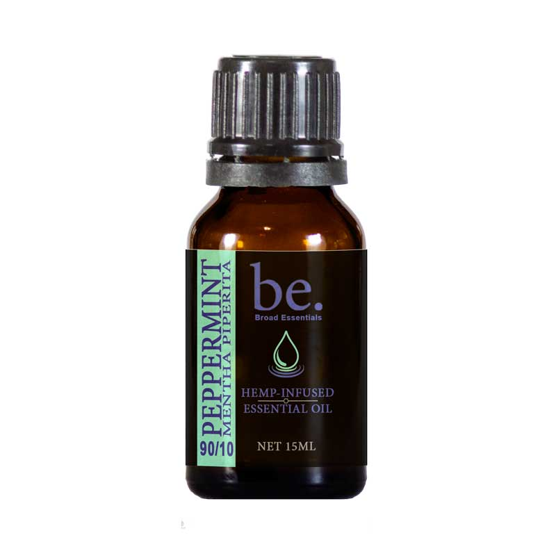 Peppermint CBD Essential Oil 15ml w/1500mg CBD - Broad Essentials