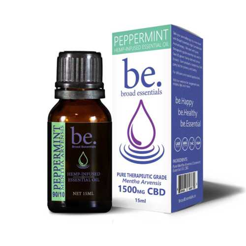 Peppermint (Cornmint) CBD Essential Oils | 1500mg CBD - High CBD Aromatherapy | Broad Essentials