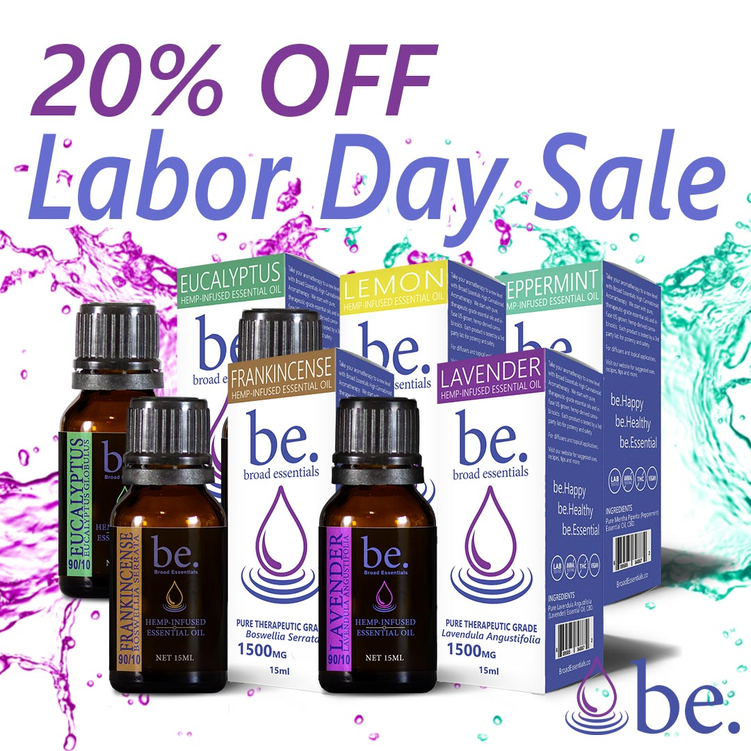 Labor Day Sale on all Hemp Aromatherapy Oils!