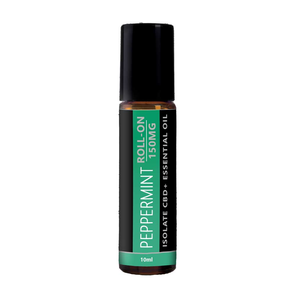 CBD Infused Peppermint Essential Oil Roll On   Peppermint CBD Roll On